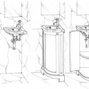 Meuble lave mains